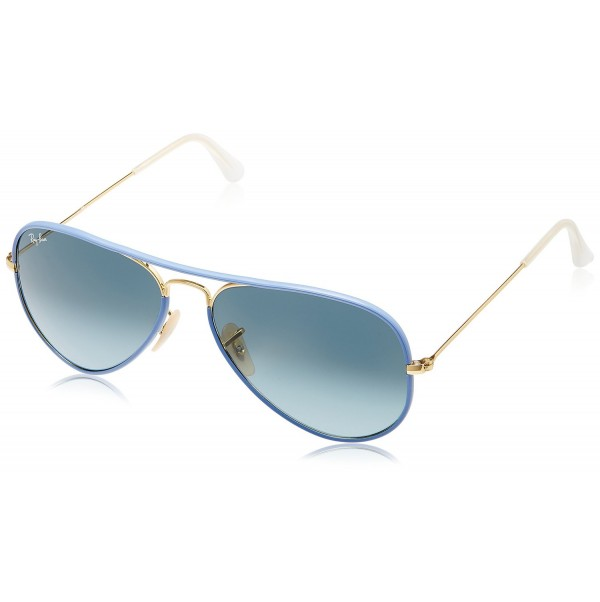 a6f42fc0998635 Ray-Ban Aviator Sunglasses (Blue and Golden) (RB3025JM 001 4M58)