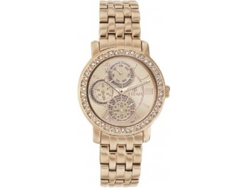 Titan 9743WM01 Purple Glam Gold Analog Watch - For Women